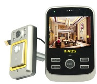 "Free Shipping KiVOS KDB01-S 3.5 "" LCD Digital HD Monitor Door Peephole Viewer Camera with Doorbell  and Motion Sensor"
