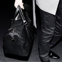 Free Shipping Mushroom women's handbag male women's handbag black woven cross-body bag big bag handbag casual travel bag