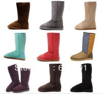 Free Shipping Classic Tall Boots 5815 Women's Australia Cow Leather Snow Boots, Winter Boots Size US5-10