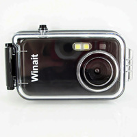 Cheapest 2Mp CMOS sensor waterproof digital camera with 1.44 inch screen and 3x AAA battery, free shipping