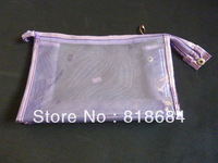 New fashion beautiful transparent charming purple cosmetic bag   1pc/lot