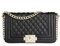 Free shipping  women lady's handbag black white color,PU Leather Shoulder Bag, Europe and America Popular women gift