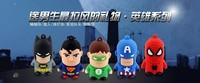 2013 new cartoon hero Superman Spiderman Batman Captain America Green man  5pcs/lot  usb flash stick memory pen free shipping