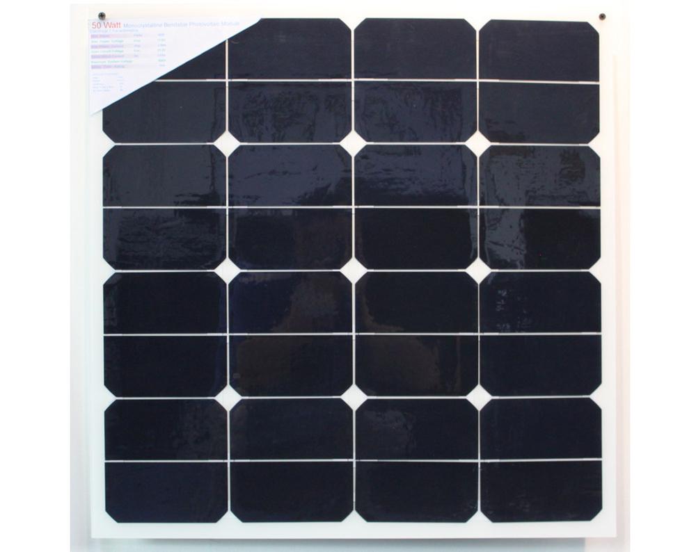 frameless 50w semi flexible solar panel for boat,thin film light weight solar panels(China (Mainland))