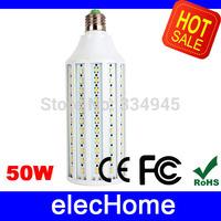 E27 50W Super Bright LED Corn Light Bulb 165 leds 5630 SMD Spot Light AC 220V LED Lamp Bulbs Spotlight   Free shipping
