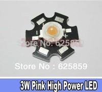 NEW 10PCS 3W High Power Pink LED Light Emitter 700mA with 20mm Star Heatsink