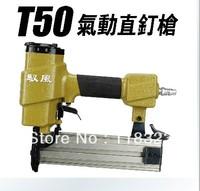 Free UPS Deliver T50 Pneumatic Straight Air Nailer Gun, Pneumatic Tools, Air Tools Nail Gun,  Air Stapler, Air Nailer