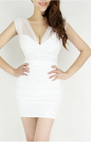 Drop shipping!2013 Sexy Lace Dress Short Tight Mini Luxury Club Satin Women Clothes sequined Party Evening black dresses