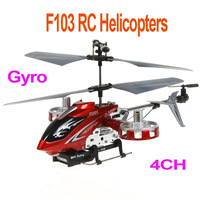 New Avantar FH103 4CH 2.4GHz Remote Control Gyro LED I/R Metal Model Mini RC Helicopter RTF,Red / Blue