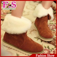 Free Shipping High Quality Warm Lamb fur Snow Boots 2013 Platform Winter Women Shoes AB142