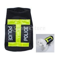 Free Shipping Police Dog Vest Pet Clothes Apparel Coat Black