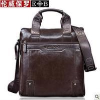 Hot sale!! LENWE BOLO New Genuine Leather Men Bag Briefcase Handbag Men Shoulder Bag,free shipping
