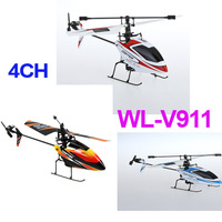 Original Wltoys V911 4CH 2.4GHz Radio Control Single Propeller Mini RC Helicopter Gyro RTF Helicopter White/Red/Orange