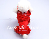 new designer puppy raincoat clothes for the dogs polyester products wholesale and retail promotion size large