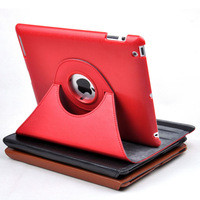 Smart Cover Embossed Tablet leather Case with 360 Degrees Rotating Stand for ipad 2 Ipad3 Ipad4 New Ipad
