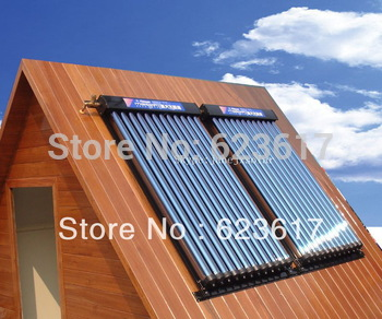 Free shipping/Heat Pipe solar collector 2 panels 240L solar water heater .