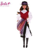 MATTEL BARBIE COLLECTORS DOW WORLD CHILE BARBIE DOLL W3494_NRFB ORIGINAL BRAND  free shipping