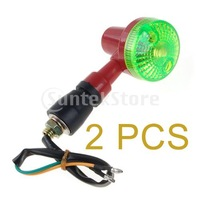 Free Shipping 2 x 12V Round Turn Light for Motorcycle