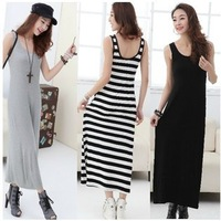 New Summer Womens Bohemian Vest Dresses, Candy Colors Ladies Sexys Tank Top Long Skirts