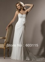 QN130530-0903  Strapless Sweetheart  Applique Bridal Dresses