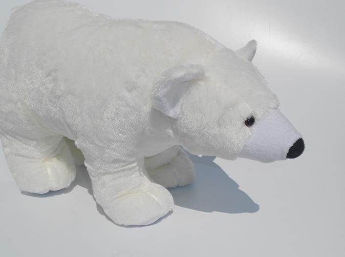 Free shipping New Stuffed Plush Toys Simulation White Polar Bear Doll Standing Posture Children's Birthday gift High Quality(China (Mainland))
