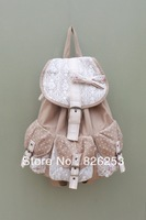 Lace bow dot backpack rucksack travel bag b389
