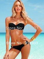 [ANYTIME] Women BRAND LOGO Swimwear,  2014 Women Sexy Padded Push Up Swimsuits Designer Bikini Set (S-M-L), 9 Colors