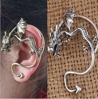 Fashion Vintage  punk dragon Alloy  earrings ear hook no pierced jewelry
