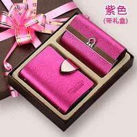 women's brand genuine cowhide leather Luxury card holder /women's multi card holder key wallet twinset