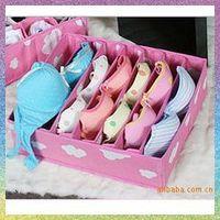 [bra Storage Boxes]Free shipping 2PCS/lot JJ217 bra wholesale cheap women underwear bra receive a case / box bamboo storage