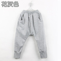 2013 New Boys Girls Loose Haren Pants Casual Child Cotton Pants Fashion Spring Antumn Trousers Pure Color Pants Clothing kz1396