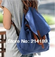 Canvas bag 2013 women's vintage canvas bag backpack student bag school bag backpack Free Shipping