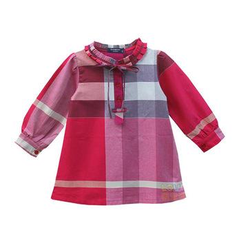 Children Girl Dress Spring Summer 2013 Infant Girls Brand  Dress Long-sleeve Plaid kids Princess One-piece Dresses