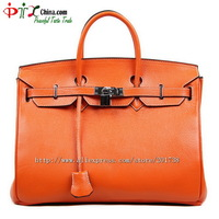Free shipping Fashion handbag cowhide women's handbag platinum bag 100%  genuine leather handbag Big size -H13060301B