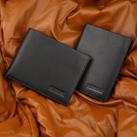 OEM Hot Sell Men Soft Leather Wallet Male Genuine Leather Short Design Wallet Excellent Name Brand Wallet