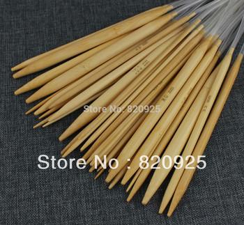 1 X 18 Sizes Bamboo Circular Knitting Needles Size 2mm to 10mm
