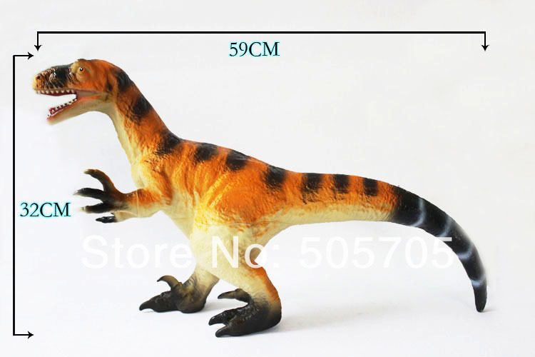 free shipping gallimimus big and soft dinosaurs model toys plastic model educational children toys(Hong Kong)