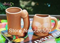 Free shipping 1Pair Breast Mug + Pecker Mug / Penis Mug