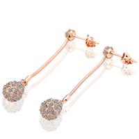 18k Gold Plated Earring High Quality 18k Gold Earrings Wholesale Fashion Wedding Jewelry Austria Crystal Drop Earings 18ke010