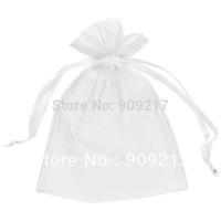 200 pcs White Organza Pouchs Size 12x17 cm Wedding Favors Party Gift Bag