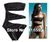 2013 New Fashion Sexy Woman's One Piece Monokini Swimwear Swimsuit Beachwear Bathing suit black Color