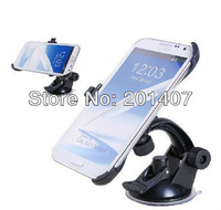 new  N7100 note 2 Windscreen mount Car with suction cup Stand windshield Holder For Samsung GALAXY Note II N7100 free shipping
