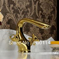 Gold antique faucet double basin basin vintage fashion