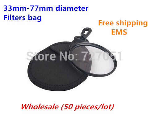 (50 pieces/lot) Wholesale Free shipping EMS Camera 37mm - 77mm UV Filters Lens Soft Pouch Case Bag Sack Protective Cover(China (Mainland))