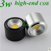 2014  high-end 3w  COB downlight ceiling lamp sport light black lamp shade
