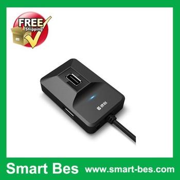 Smart Bes!Free shipping! usb splitter high speed usb hub hub4 2.0 splitter hub 1 to 4 usb splitter with good quality