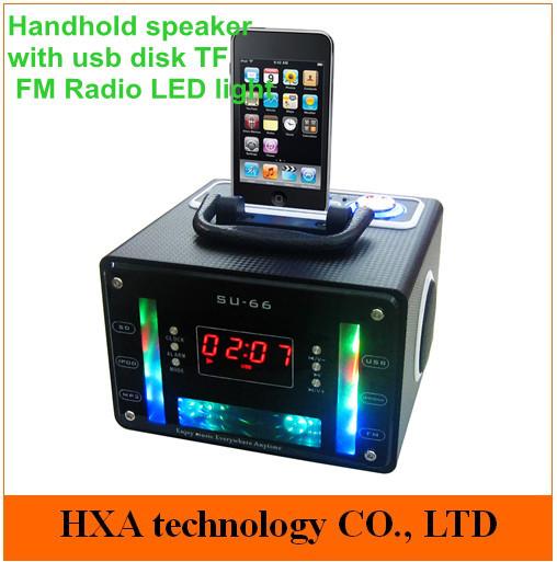 30pcs rod subwoofer speaker wit FM radio usb disk sd card slot , computer laptop cell phone speaker , for iphone speaker(China (Mainland))