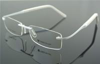 Eyeglass Frames Men's & Women Flexible WHITE Rimless Glasses Optic Eyeglasses Prescription Frame RX T0302