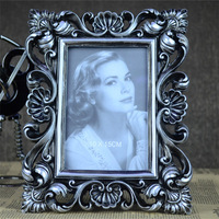 Home Decoration 6 inch Photo frame vintage swing sets Resin Classical furniture accessories picture frame gift Free Shipping
