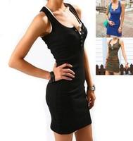 Sweet woman slim hip skirt basic skirt medium-long spaghetti strap tank dress buckle skirt